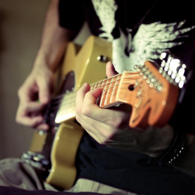 """Guitarman"" stock image"