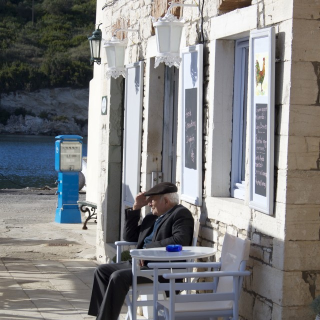 """The Easy Life in Paxos"" stock image"