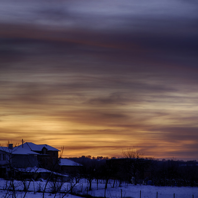 """Another Bulgarian sunset"" stock image"