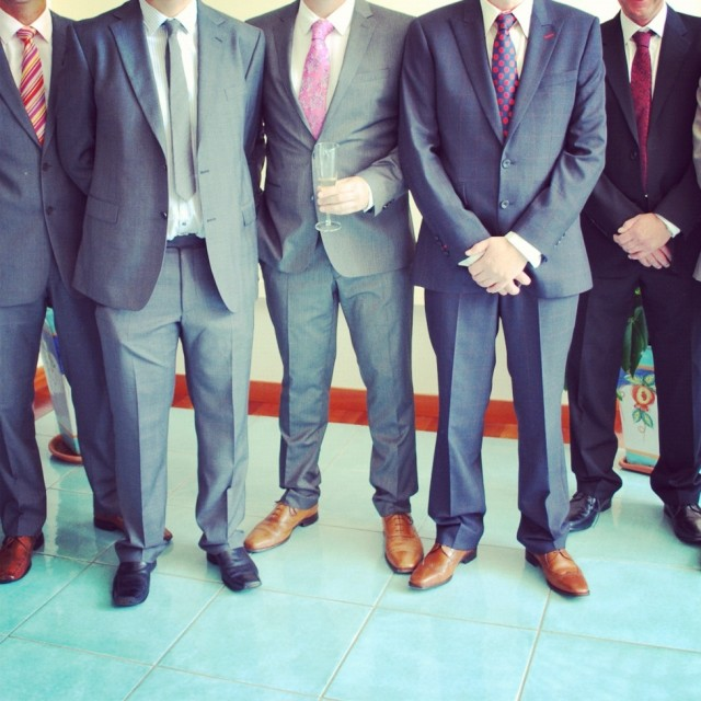 """Men in suits"" stock image"