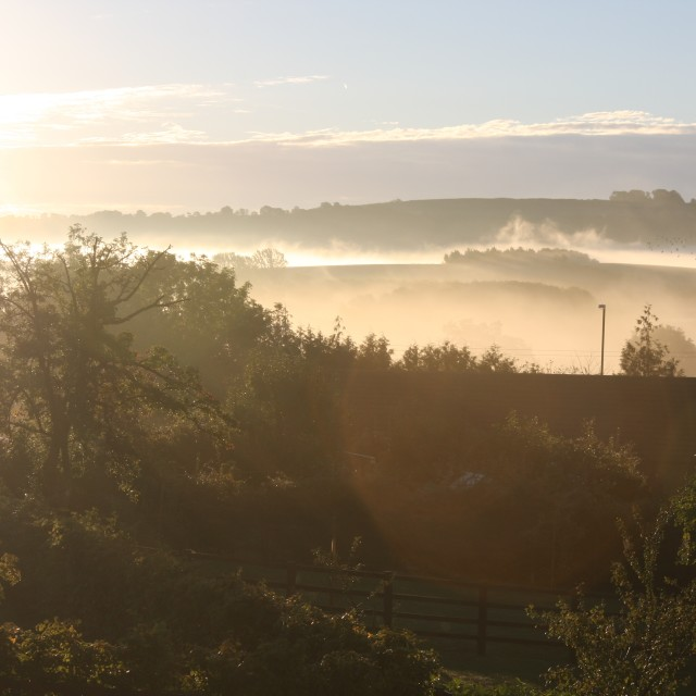 """Brailes Hill, Warwickshire"" stock image"