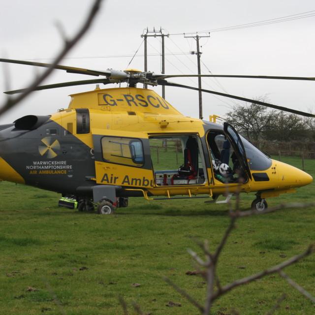 """Warwickshire and Northamptonshire Air Ambulance"" stock image"