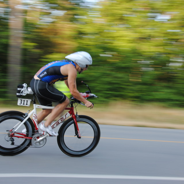 """Triathlon biker"" stock image"