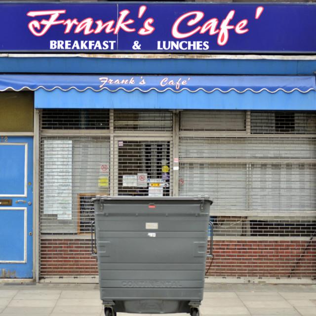 """Frank's Café'"" stock image"
