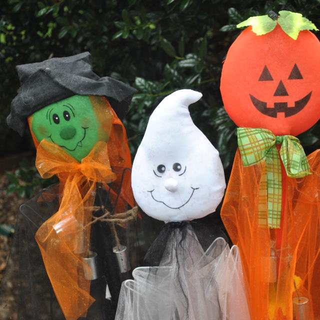 """haloween yard decorations"" stock image"