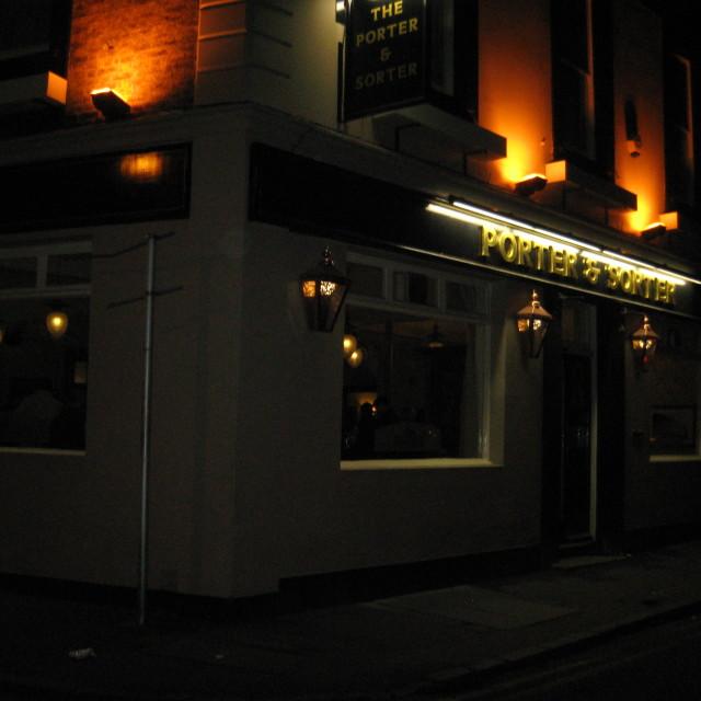 """""""The Porter and Sorter Pub, Croydon"""" stock image"""