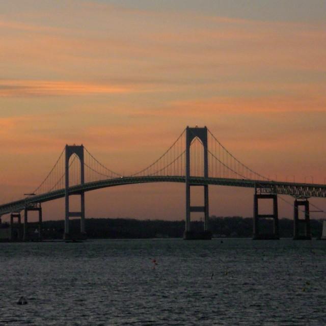 """""""Bridge over Narragansett Bay"""" stock image"""