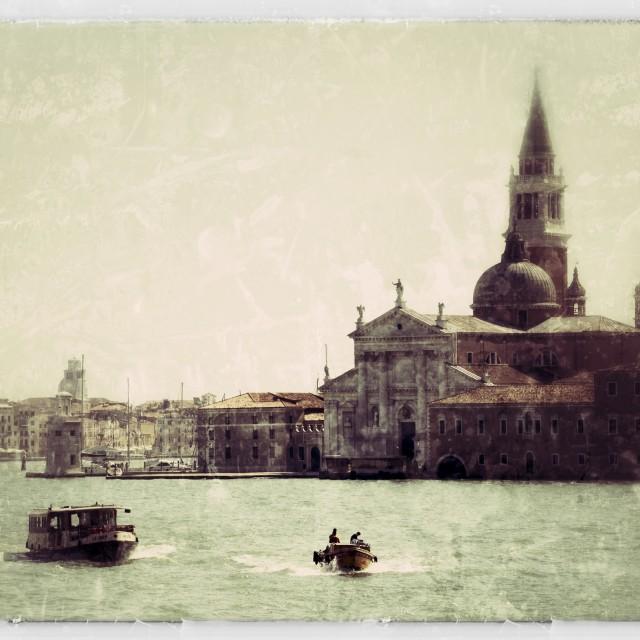 """Venice waterways"" stock image"