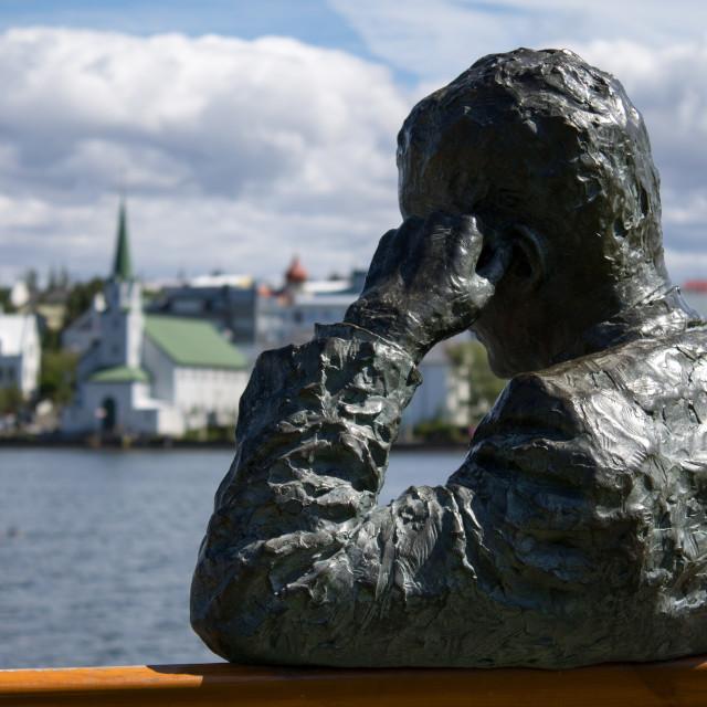 """The Pond, Reykjavik, Iceland"" stock image"