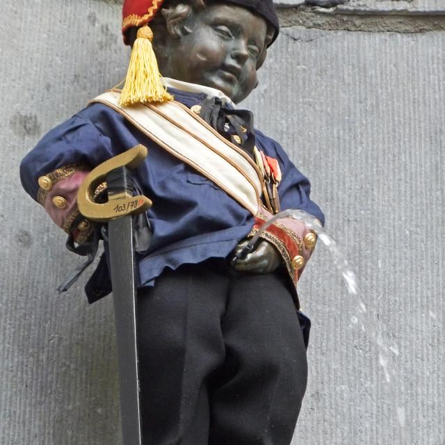 """Manneken Pis, Brussels"" stock image"