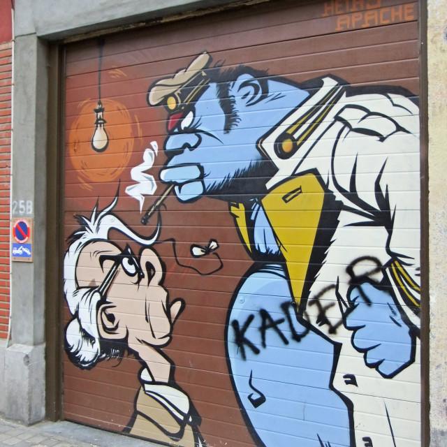 """Street Art, Brussels, Belgium"" stock image"