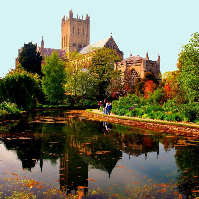 """""""Wells Cathedral"""" stock image"""