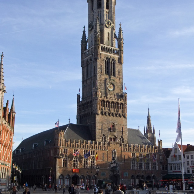 """Bruges Bell Tower"" stock image"