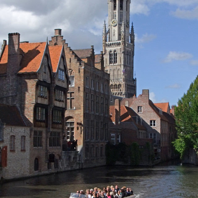 """Bruges Canals"" stock image"