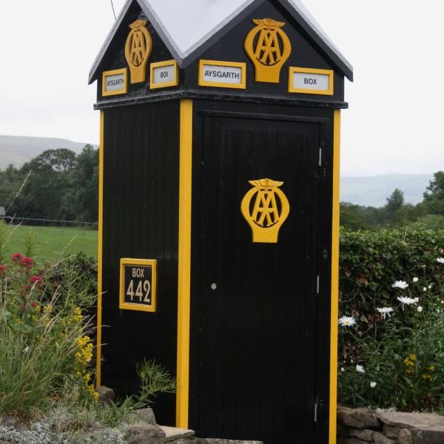 """AA Patrol Box, Aysgarth"" stock image"