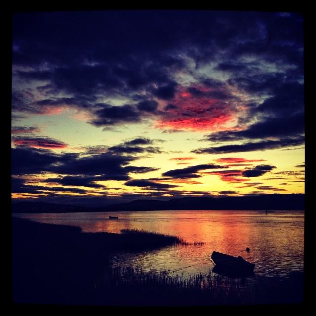 """Sunset on Tay"" stock image"
