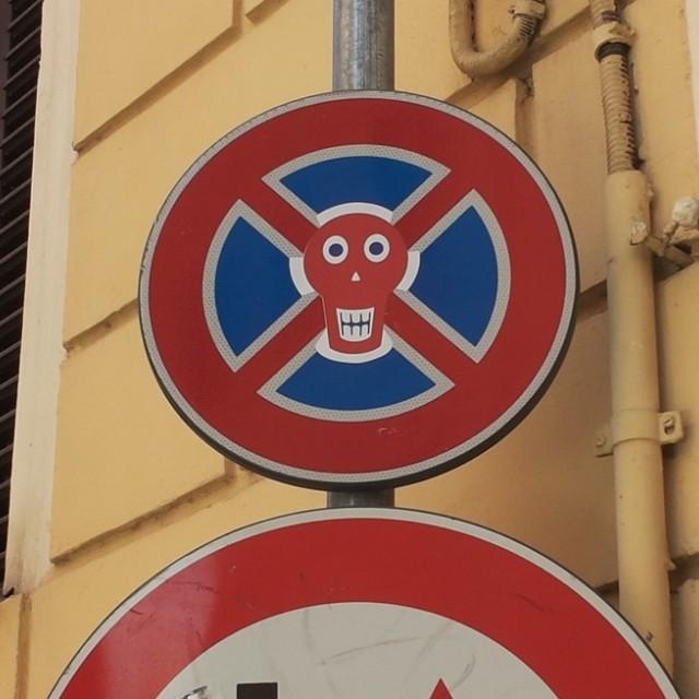 """Italian street sign"" stock image"