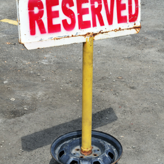 """Reserved Signpost"" stock image"