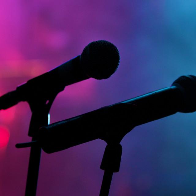 """microphones"" stock image"