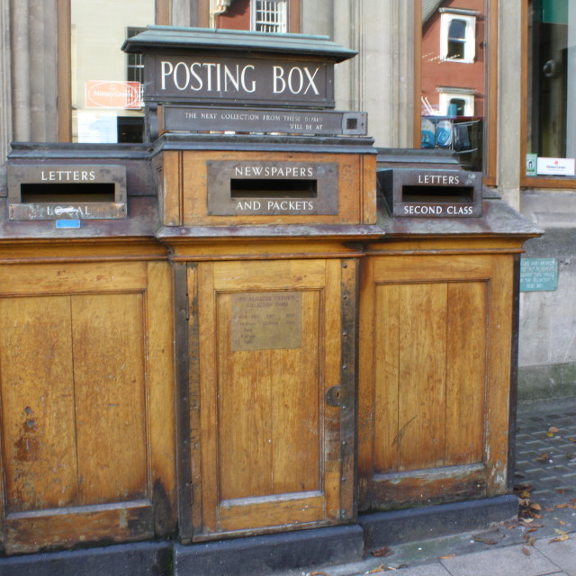 """""""Old Fashioned Post Box, Oxford"""" stock image"""
