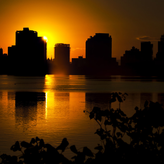 """""""Sunset at the city"""" stock image"""