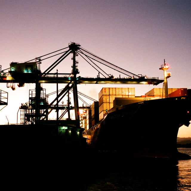 """Itajaí port"" stock image"