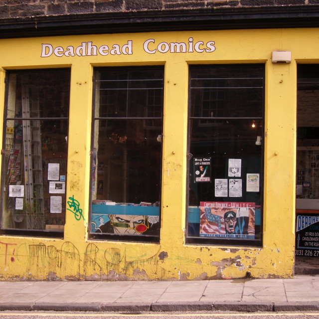 """deadhead comics, edinburgh"" stock image"
