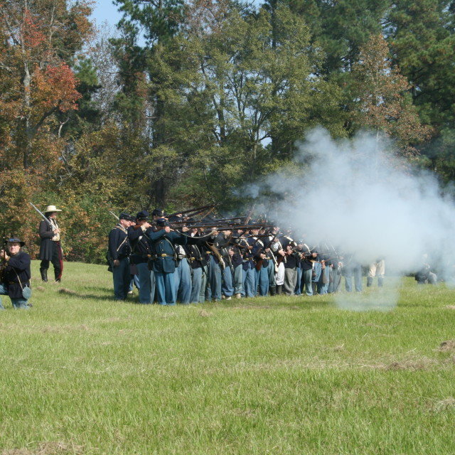 """Civil War Reenactment"" stock image"
