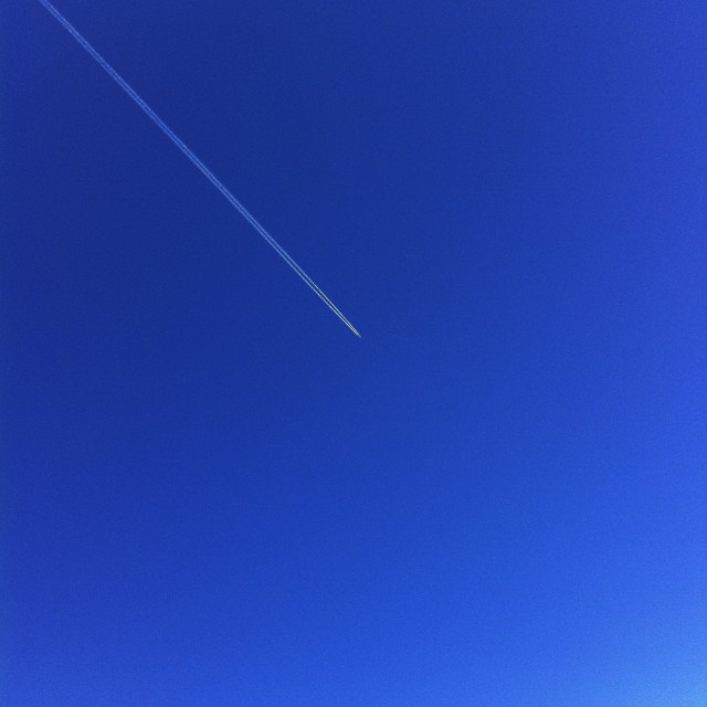 """Lines in the sky"" stock image"