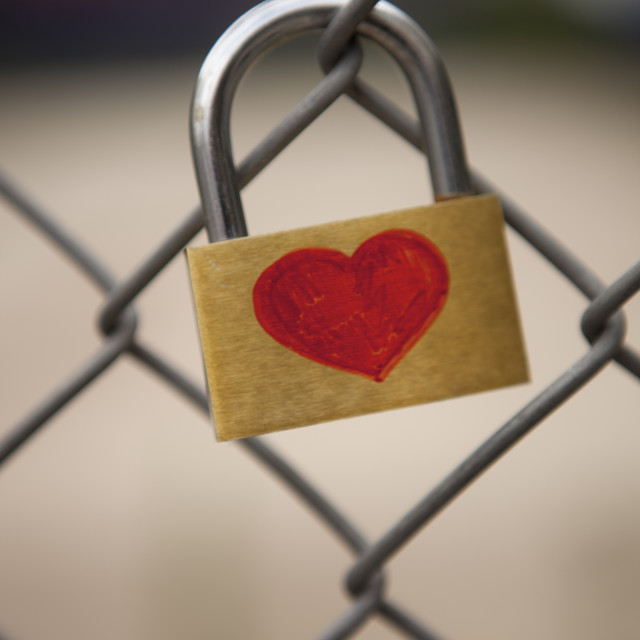 """Locked Heart"" stock image"