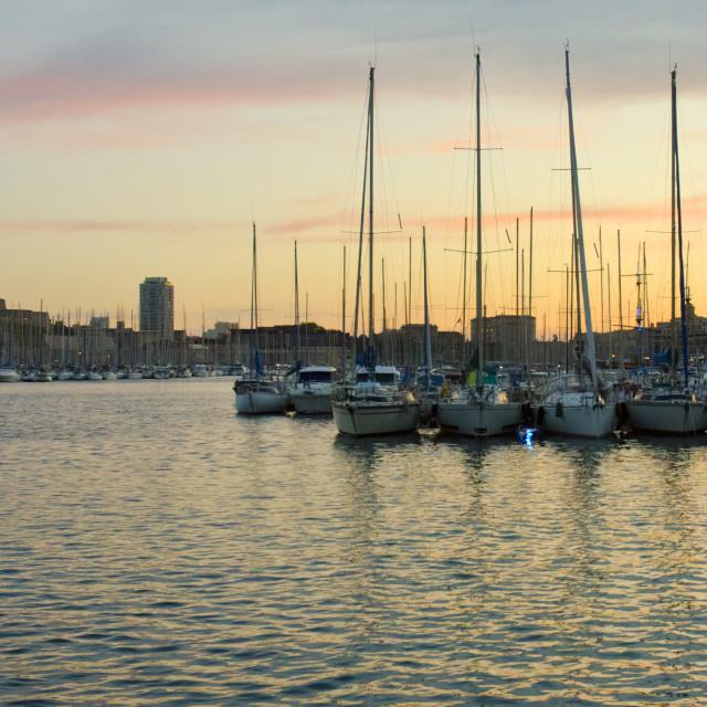 """Marseille's Vieux Port"" stock image"