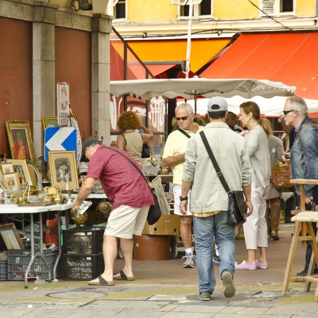 """Nice Market, France"" stock image"