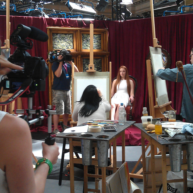 """""""Sky Arts Portrait Artist of the Year Competition"""" stock image"""