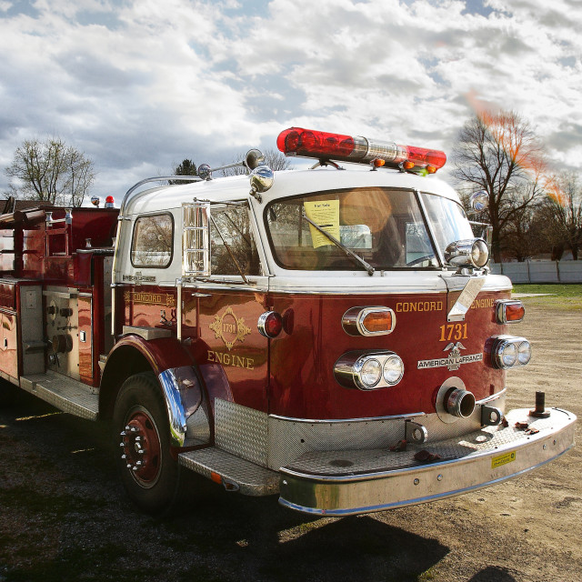 """""""Vintage fire truck"""" stock image"""