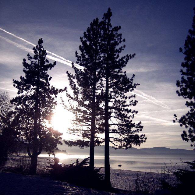 """Frozen Lake Tahoe"" stock image"