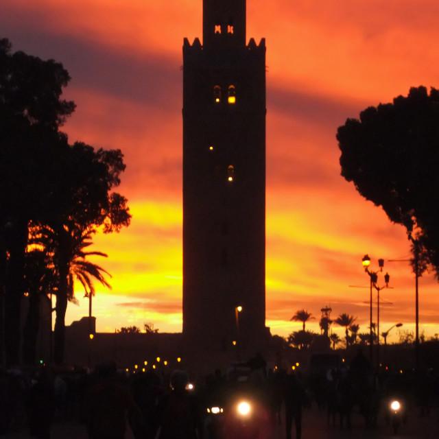 """Sunset, Marrakesh"" stock image"
