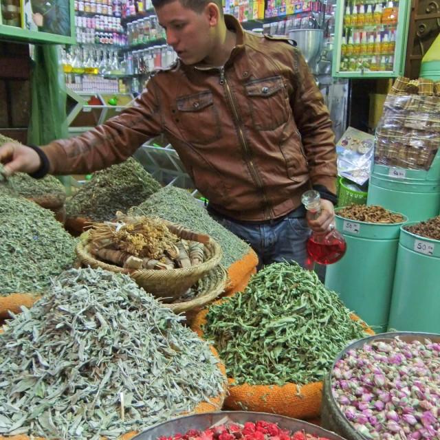 """Spice Market, Marrakesh"" stock image"