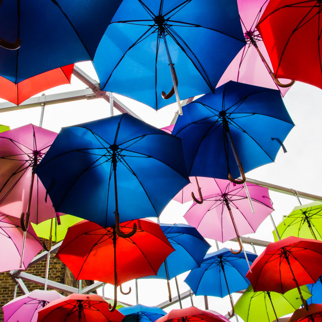 """Borough market, umbrellas"" stock image"
