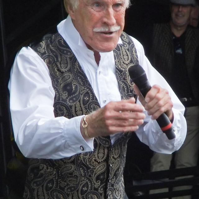 """Bruce Forsyth, Hop Farm Festival 2012"" stock image"