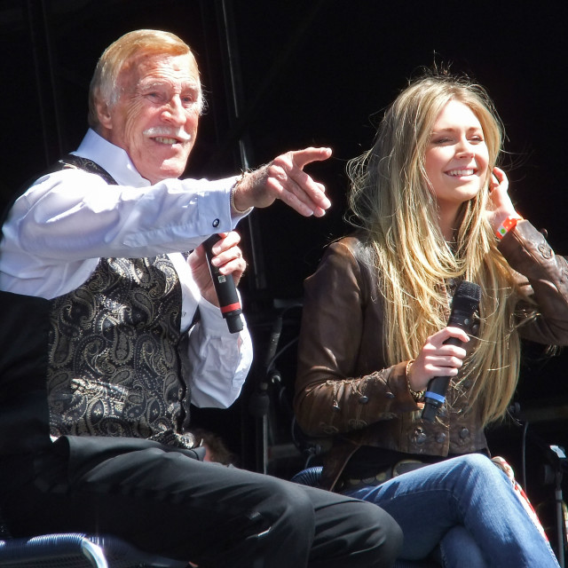"""Bruce Forsyth and Sophie Purdie, Hop Farm Festival 2012"" stock image"
