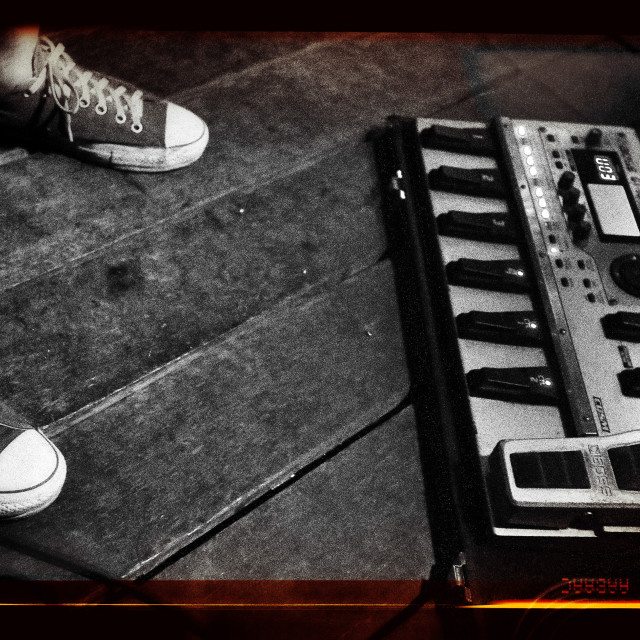 """""""Rock N Roll Essentials in Black and White"""" stock image"""