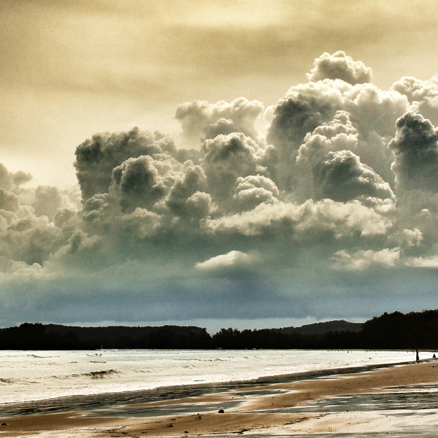 """The Amazing Golden Clouds of Ao Nang Thailand"" stock image"