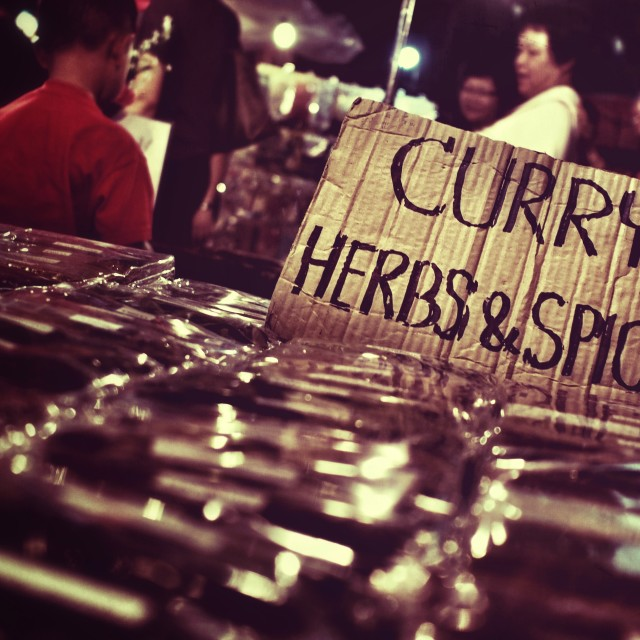 """""""Curry Herbs and Spices"""" stock image"""