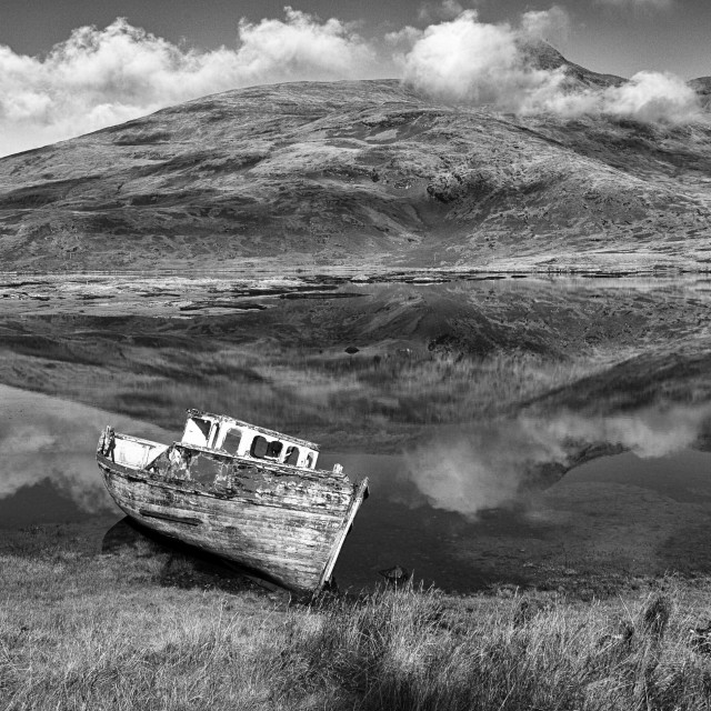 """Derelict Boat"" stock image"