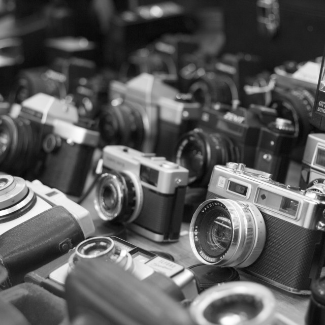 """Greyscale Cameras"" stock image"