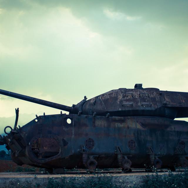 """Destroyed tank"" stock image"