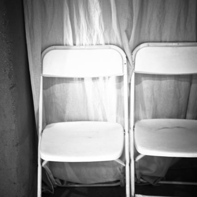 """Two White Chairs"" stock image"