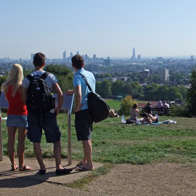 """Parliament Hill, London"" stock image"
