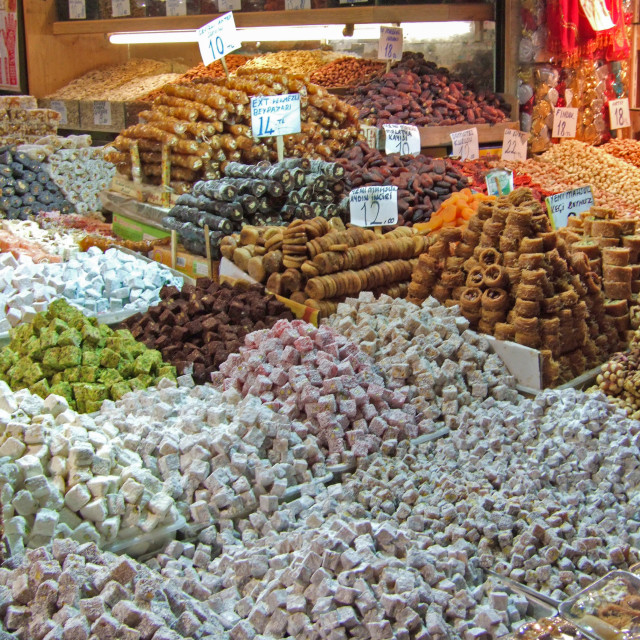 """Turkish Delight, Istanbul"" stock image"