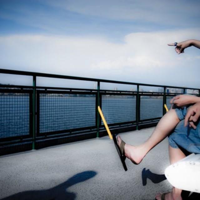 """Ferry Passengers"" stock image"